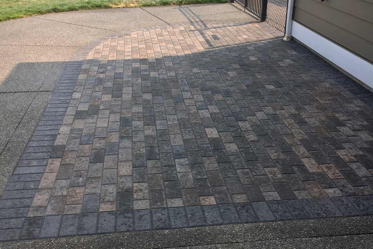 Holland Herringbone paver extension