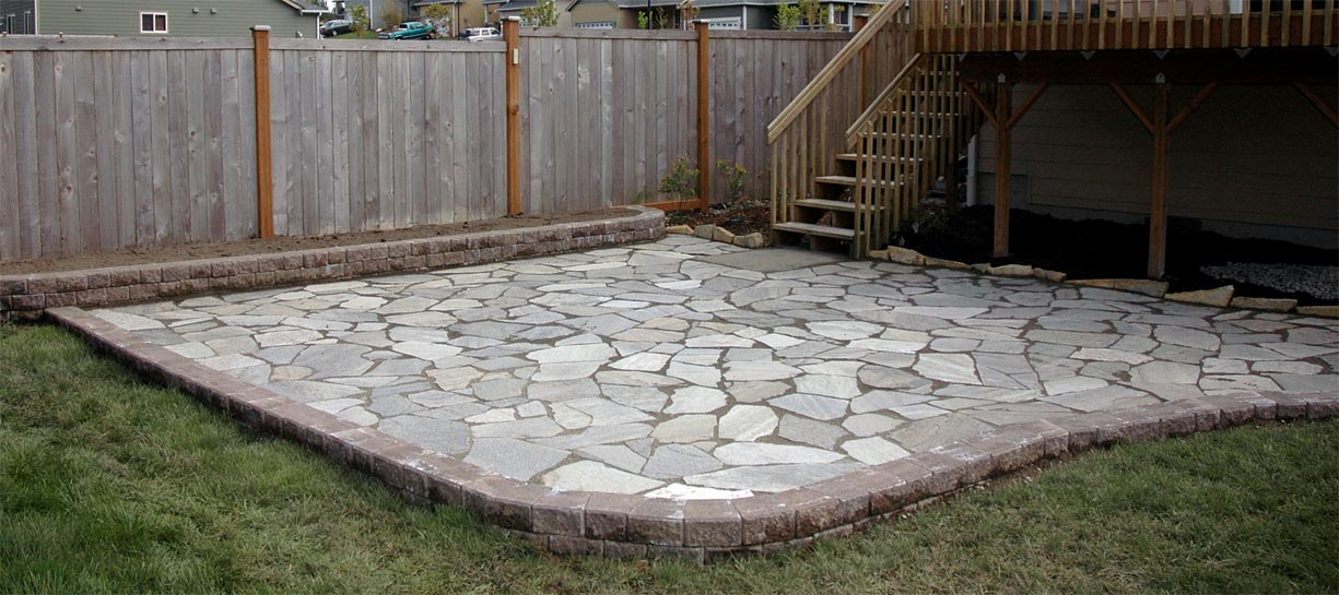 Raised Flagstone Patio