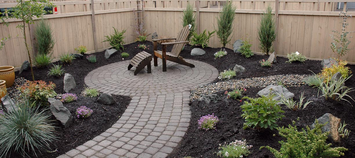 Paver Pathway and round patio